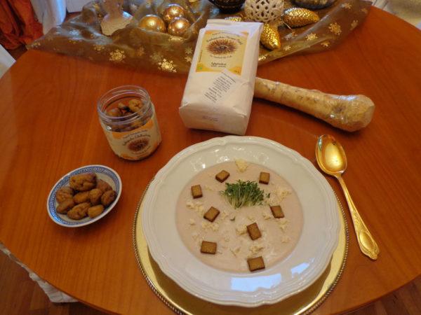 Suppe aus Kastanienmehl